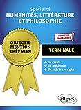 Spécialité Humanités, Littérature et Philosophie. Terminale. Nouveaux programmes.