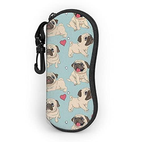 Dog2 Funda para gafas, estuche portátil para gafas de anime, estuche para gafas de sol, caja de almacenamiento de gafas, ligera, elegante, simple y linda