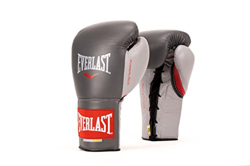 Everlast PowerLock Pro Fight Gloves 10oz Grey PowerLock Pro Fight Gloves