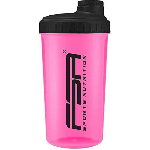Protein Shaker 700 ml mit Messskala und Drehverschluss, für Diät- und Protein-Shakes, BPA frei von FSA Nutrition - Pink