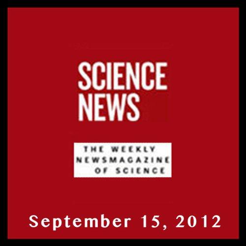Science News, September 15, 2012 cover art