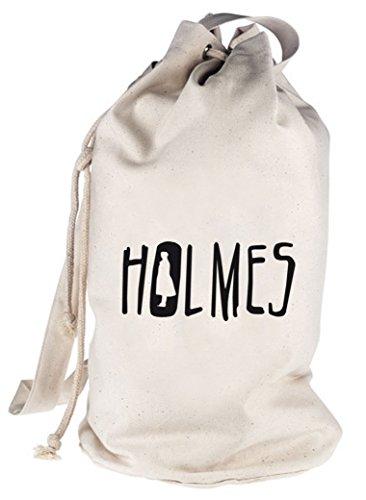 Shirtstreet24, HOLMES, bedruckter Seesack Umhängetasche Schultertasche Beutel Bag, Größe: onesize,natur