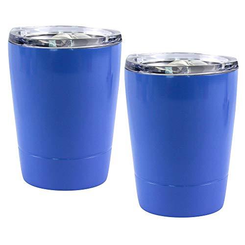 Taza de café reutilizable de viaje, mini taza térmica de 8 oz / 230 ml, taza de café de viaje con tapa a prueba de fugas, tazas de viaje para bebidas frías y calientes a prueba de fugas