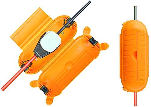 Brennenstuhl Safe-Box BIG IP44 / Schutzbox für Verlängerungskabel (Schutzkapsel für Kabel im Außenbereich) gelb