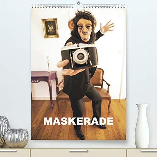 MASKERADE (Premium, hochwertiger DIN A2 Wandkalender 2020, Kunstdruck in Hochglanz): Eine tierische Maskerade (Monatskalender, 14 Seiten ) (CALVENDO Kunst)