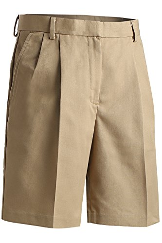 Edwards Garment Women's Classic Fit Pleated Short, Khaki, 8