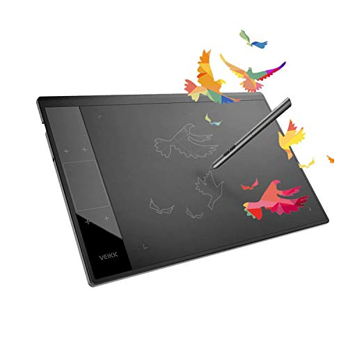 Drawing Tablet VEIKK A30 Graphic Pen Tablet with Gesture Touch Pad ,4 hotkeys, 10x6 inch Working Area Battery-Free Stylus