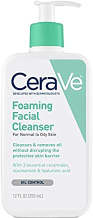 CeraVe - Foaming Facial Cleanser for Daily Face Washing - Normal to Oily Skin - 12 oz - 355ml (packaging may vary)
