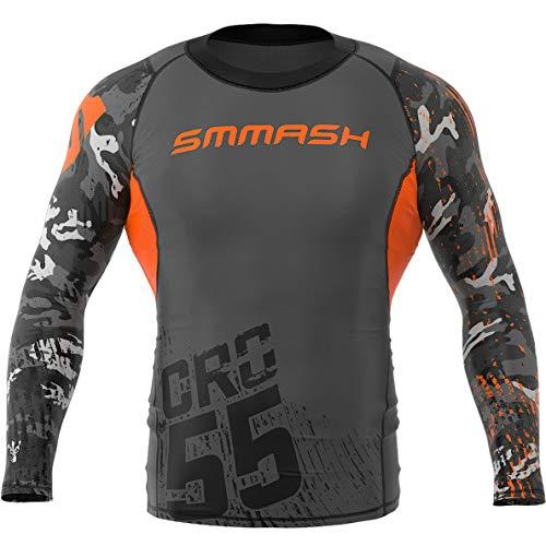 SMMASH Moro Camisetas Compresión Deporte de Manga Larga para Hombre, Long Sleeve Perfecto para el Gimnasio, Formación, Crossfit, Material Antibacteriano, Fabricada en la UE(XXL)