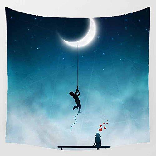 jtxqe Hängendes Tuch Dekoratives Tuch Hintergrundtuch Abdecktuch Baumwolle Leinen Hängendes Gemälde Wandteppich 05 175 * 175