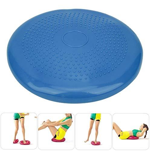Cojín inflable de yoga, banco Life Fitness Cojín inflable de oscilación Cojín de yoga Cojín de oscilación de yoga Cojín de equilibrio de yoga para entrenamiento corporal para yoga(blue, Diameter 34)