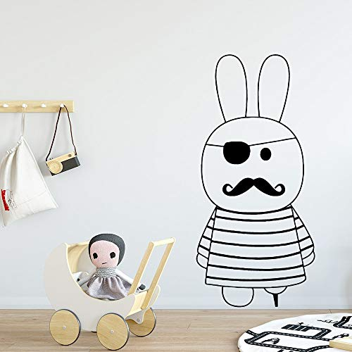 Yaonuli decoratieve muursticker van vinyl met sticker voor de kinderkamer, kunst in de woonkamer, decoratie van het huis van de konijnenwekker.