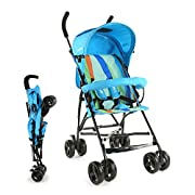 Easy fold compact Stroller / Buggy - Ideal for travelling with Kids & Toddlers 5 point safety harness for child safety I Carrying Capacity up to 15 kgs 360° Front Wheel Swivel & Rear wheel breaks Double layered canopy with lock & unlock facility Look...