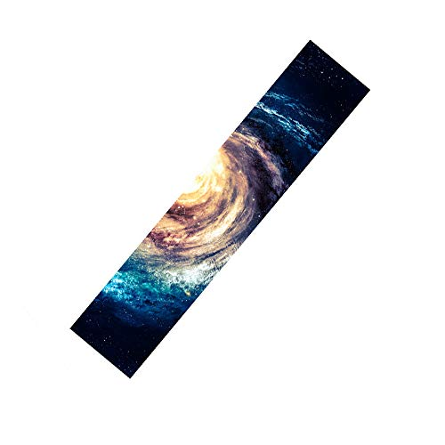 Rayauto 119,4 x 25,4 cm Sport Outdoor Elektrisches Skateboard Longboard Dancing Board Double Rocker Board Wasserdicht Diamond Griptape Blatt Sticker Deck Sandpapier, Galaxy