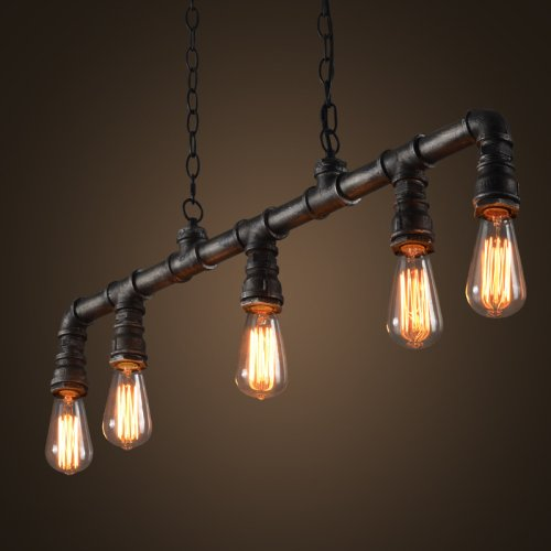 LightInTheBox Industrial VIntage Style LOFT Water Pipe Chandeliers Retro Classic Edison Personalized Fixture Lighting 110-120V