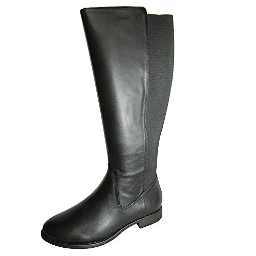 Kenneth Cole REACTION Womens Gore Lee Riding Boots Shoe, Black PU, US 6