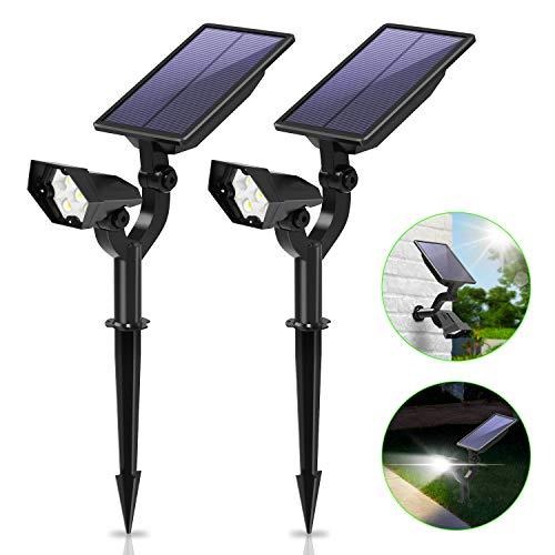 petit un compact Projecteur solaire extérieur Leolee, lumière solaire LED étanche IP66 lumière du soleil extérieure 2600mAh…