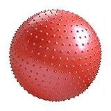 FLYWM,Femmes Enceintes Balle De Perte De Poids Pilates et massage Ballon de Fitness solide avec pompe Accouchement Balle Rapide Pompe Yoga,rouge-2-63cm
