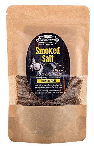 Axtschlag Räuchergewürz Salz, Grillgewürz für einen einzigartigen Geschmack von Fleisch, Fisch und Gemüse, 150g geräuchertes Salz, wiederverschließbar