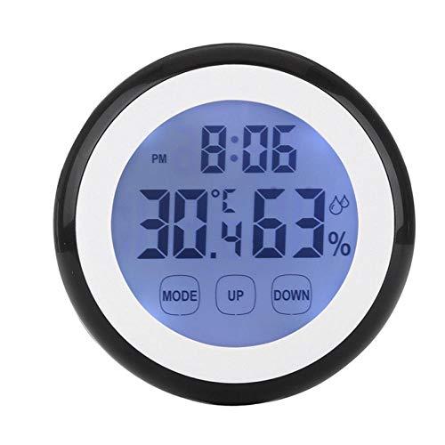 ZYZYY Digitale Temperatuur Vochtigheid display Muur Klok 12/24 uur Kunststof Koelkast sticker Binnen Weerstation LCD Backlight Klok Thuis