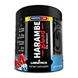 Harambe Blood Preworkout Powder for Men & Women - Extreme Pump Supplement - Freedom Ice - 350g