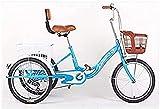 Bicicleta Vintage Bicicleta Vieja Ancianos Triciclo de Pedal pequeño Scooter Respaldo Ligero Paseo en Bicicleta Compras y Compras de comestibles