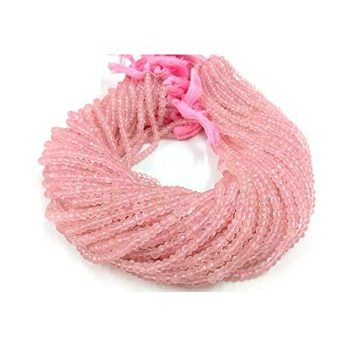 5 mm a 6 mm natural de cuarzo rosa facetado Rondelle semi preciosas piedras preciosas sueltas para hacer la joyería pendiente del collar de la pulsera, de piedras preciosas perlas sueltas