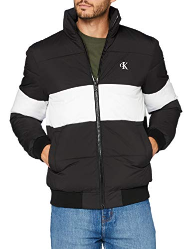 Calvin Klein Outline Logo Jacket Giacca, CK Black, S Uomo