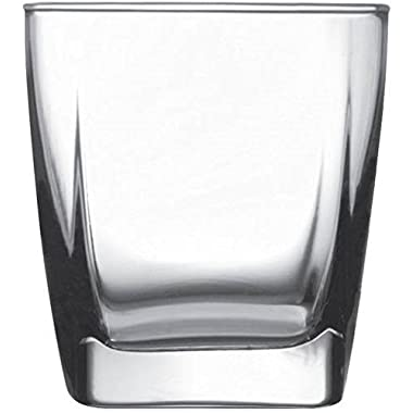 Circleware 10131 Cg Society Square Ice Cube Double Old Fashioned Whiskey Drinking Glasses (Set of 4)