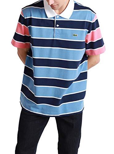 Lacoste Polo à manches courtes pour homme YH9861 - 2 boutons - Coupe droite - Bleu - Large