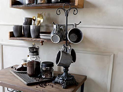 Chic Antique Porta tazze nero in ferro 54 cm di altezza in stile rustico francese