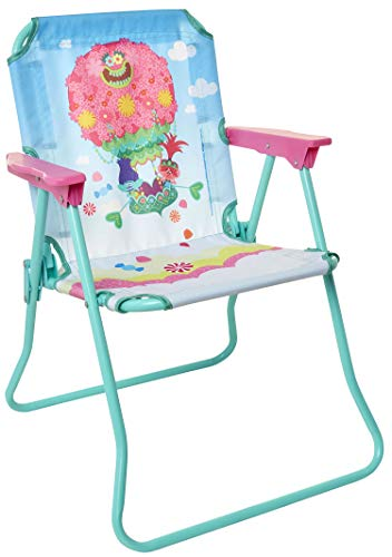 Trolls DreamWorks 2 Patio Chair for Kids, Portable Folding Park Lawn Chairs