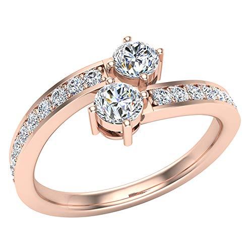 Glitz Design Mujer Niños Hombre Unisex oro 14 quilates (585) oro rosa 14ct Round Brilliant G-H Diamond