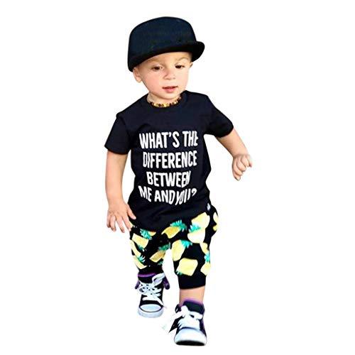 Tonsee Tenues bébé garçon, vêtements pour Enfants Toddler Vêtements Lettre imprimée T-Shirt + Pantalon Ananas Ensemble