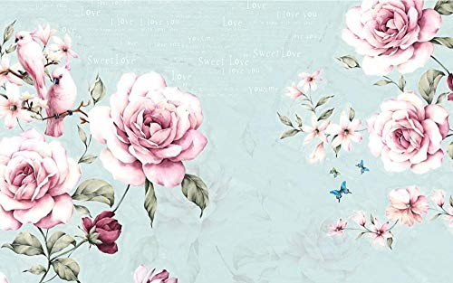 Carta Da Parati 3D Acquerello Inglese Floreale Vintage Foto Murali Grandi Wallpaper Murale 3D Carta Da Parati Moderna Muro Fotomurali