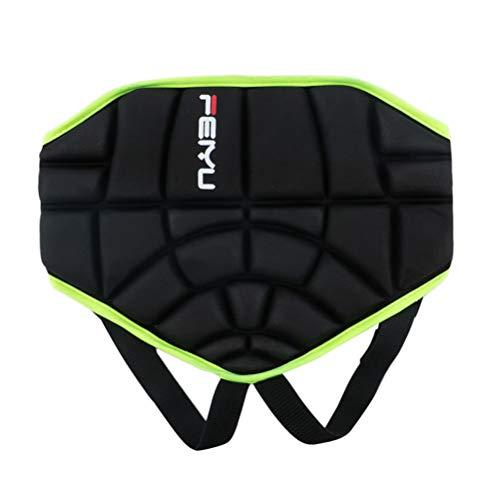 VORCOOL Kids Protective Hip Pad Shorts Anti-Rutsch-Schutz Hip Einstellbare Leichte für Ski Skate Snowboard Roller Skating Hockey Fußball (Schwarz)