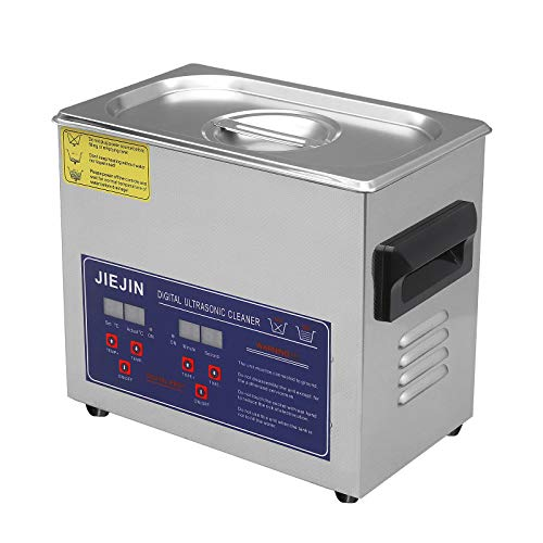 JIE JIN Professional Ultrasonic Cleaner Machine with Digital Timer, Heated Ultrasonic Cleaner for Jewelry, Metal Dishware, Circuit Board, Glasses and Timepieces (3.2L)