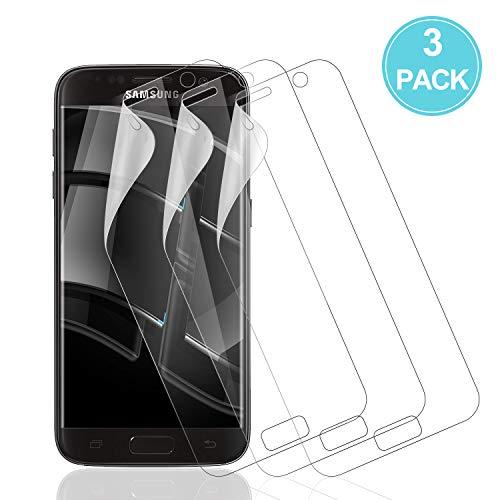 Wiestoung Schutzfolie für Samsung Galaxy S7, 3 Stück Samsung Galaxy S7 Folie, [Hochauflösend] [Ultradünn] [Blasenfreie] [Ultra HD] Weich TPU Folie für Samsung Galaxy S7 (Nicht Panzerglas)