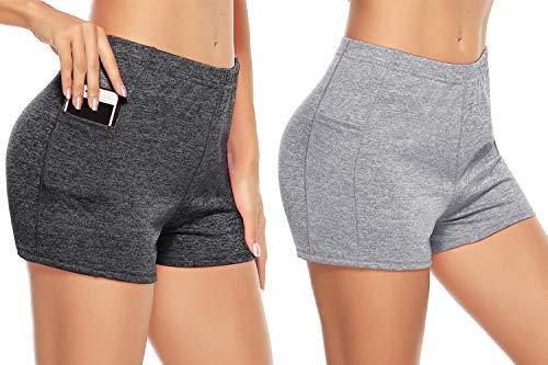 Aibrou 2 Piezas/Set Mujer Shorts Deportivos de Secado rápido Señoras Verano Pantalones...