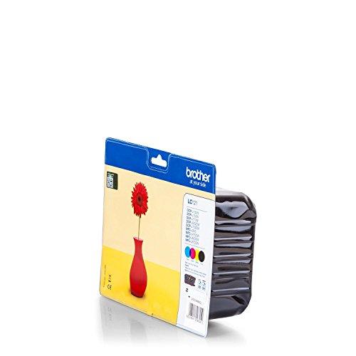 Brother lc-121–Tintenpatronen (schwarz, cyan, magenta, gelb J470DW, MFC-J650DW, MFC-J870DW, MFC-J650DW, J870DW, Tintenstrahldrucker, Leuchtmittel)