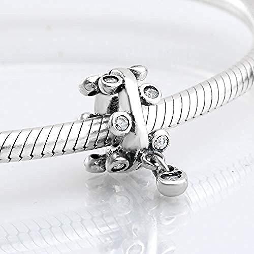 Charm Anhänger,925 Sterling Silber Kronleuchter Tröpfchen Charm Perlen Für Schmuck Herstellung Fit Original Charm Armbänder Armreifen