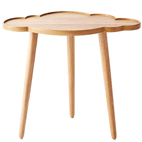 LICHUAN Mesa de centro mesa auxiliar pequeña mesa de café sofá mesa esquina unos pocos mesita de noche de madera maciza pasillo dormitorio sala de estar