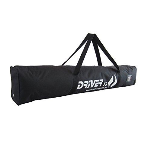 Driver13 ® Kinderskitasche Skisack für Ski Skistoecke, Kids Schitasche zum Aufbewahren und Transport beim Skifahren, wasserfest (auch Snowblades und Bigfoots) schwarz 120 cm