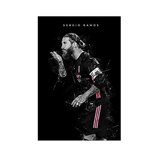 Cartel de lona de Sergio Ramos para deportes, decoración de dormitorio, paisaje, oficina, habitación, decoración, regalo, 30 x 45 cm