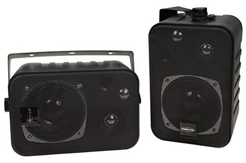 3-Wege Lautsprecher Mit Halterung Schwarz (Paar)