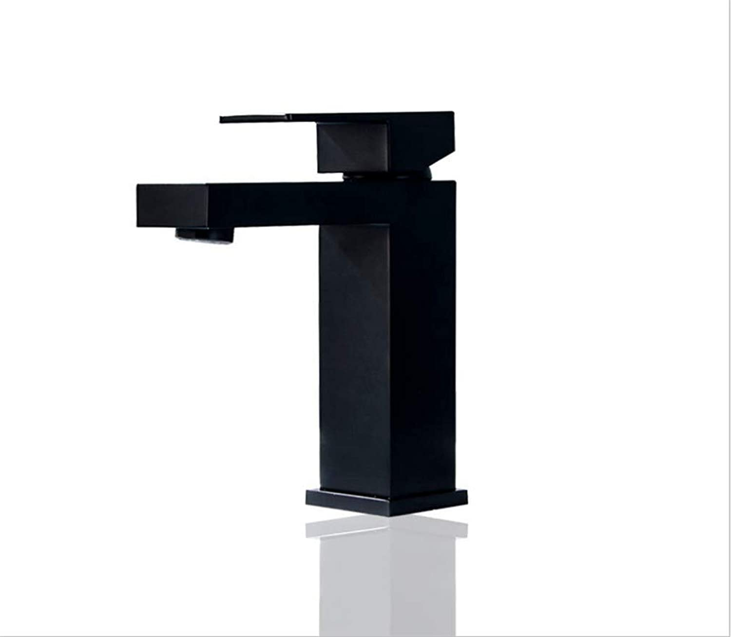 Kitchen Sink Taps Bathroom Taps Copper Hot and Cold Basin Faucet Square Hotel Table Basin Washbasin Faucet