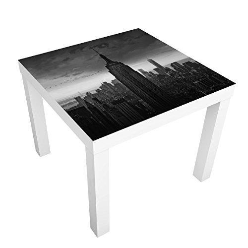 Bilderwelten Table Basse Design - New York Rockefeller View - 55x55x45cm, Couleur de la Table: Table de Noir, Dimension: 55 x 55 x 45cm