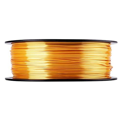 3D-Drucker Seide PLA-Filament 1,75mm Maßgenauigkeit +/- 0,05 mm 1kg (2.2 lbs) Spule 3D-Druckmaterial Guter Glanz-Golden_1,75mm