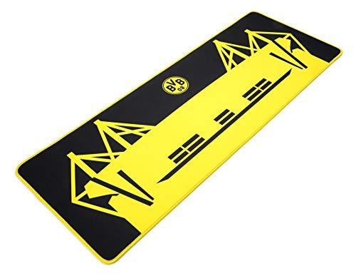 snakebyte BVB Gaming Mauspad XL - Offiziell lizenziertes Borussia Dortmund Mousepad XL / verbessert Präzision, Geschwindigkeit / Rutschfest / Reibungsarm / Low Latenz / verschleißfest / Größe 80x30cm
