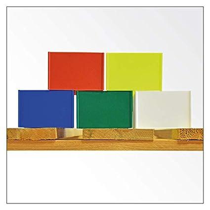 Palettenspange f/ür den Mittelfu/ß der Palettenbreitseite//Palettenspangen//Paletten Kennzeichnung//Europalette//Klemmbare Spangen//Label Gelb, 24 St/ück